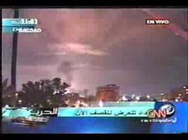 iraq war 2003 – Shock and awe live coverage tv